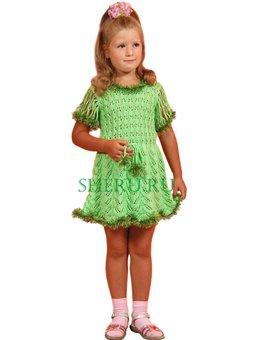 Светло-зеленое детского платье с шапочкой B7703098a390