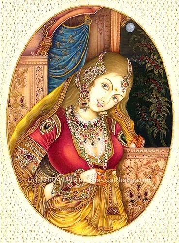 நான் + நாம் = நீ  Mughal_Lady_Portraits