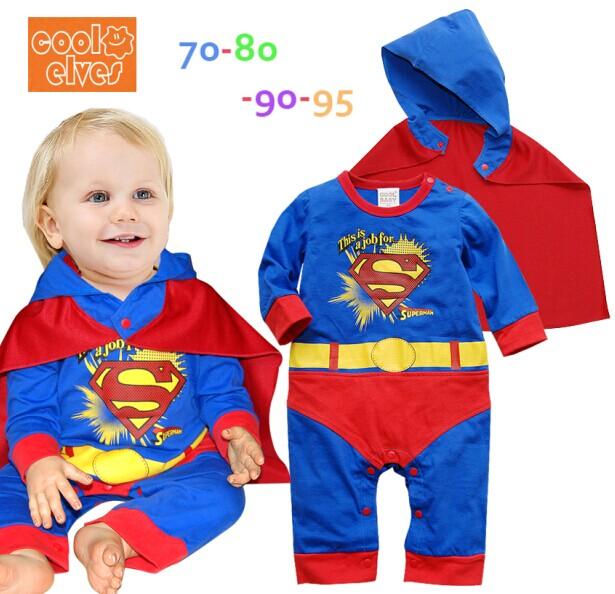 Kit de objetos de la victoria. July-new-spring-and-autumn-baby-clothing-wholesale-boy-font-b-Superman-b-font-Romper-Hooded