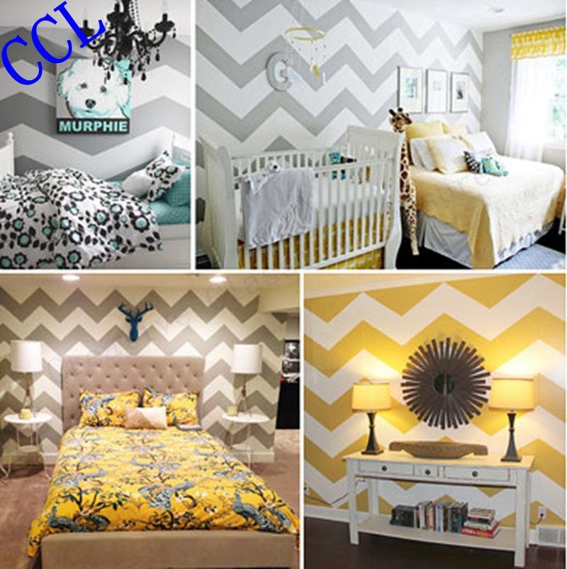 chambre enfant: mixe peinture et papier peint? Free-shipping-font-b-Geometric-b-font-Wallpaper-Chevron-Seamless-font-b-Pattern-b-font-font