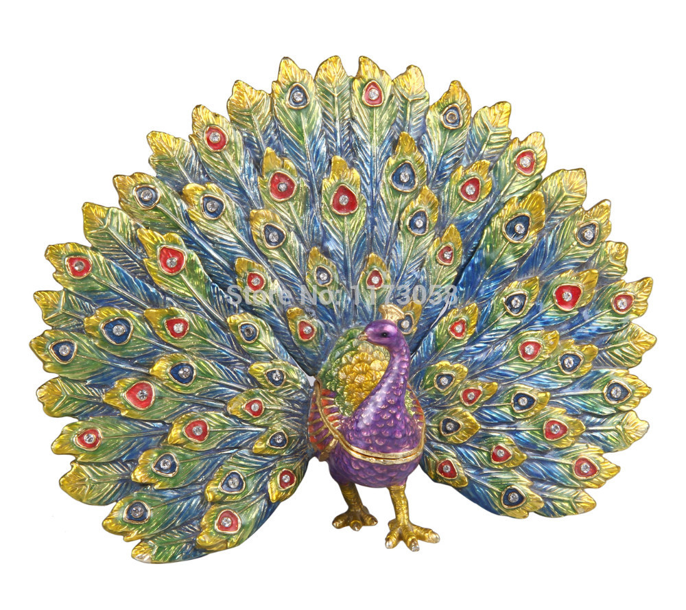 عم تتحدث الصور عن جمال الطاوس New-fanned-peacock-jewelry-case-designer-trinket-font-b-box-b-font-font-b-pewter-b