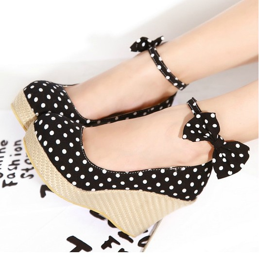 Platforme, ah platforme... - Page 3 Fashion-Canvas-High-Heels-Detachable-Bowtie-Polka-Dot-Wedges-Shoes-For-Women-Sweet-Lady-Bow-Platform