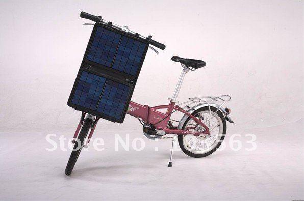 Cargar e-bike con paneles solares hechos por uno mismo. Free-shipping-Hotsale-solar-e-bike-by-DHL-for-CA-MX