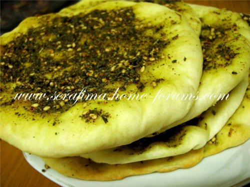 Арабские лепешки с сухой смесью заатар. Манаиш. Manaesh A23c0e6964db