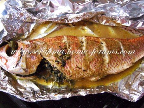 Рыба фаршированная петрушкой и чесноком A82251b87ad5