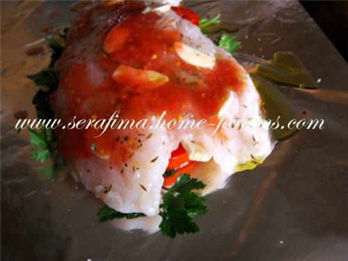 Сочное филе рыбы с помидорами, петрушкой и чесноком 0e9d3e36ffb0