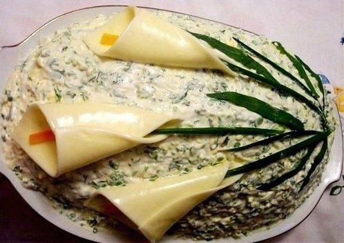 Идеи украшения салатов Bcb59ab3aa1d