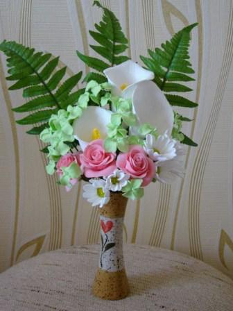 Цветы ручной работы из полимерной глины 082ad731da8e