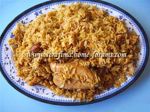 Кабсе (кабса). Красный прянный рис с курицей. Арабская кухня 7795202e621e