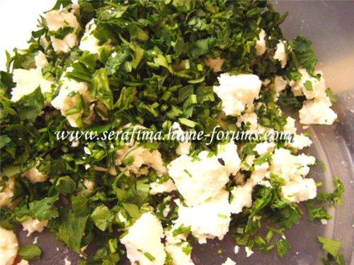 Булки с белым сыром и зеленью 557714e5e9da