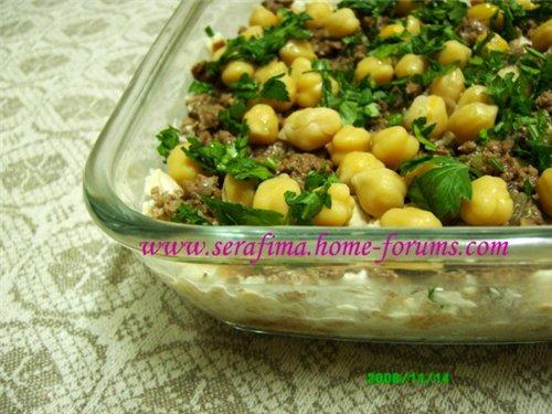 Фатте биль хуммус. Фатта с хуммусом. Арабская кухня 98873388673d