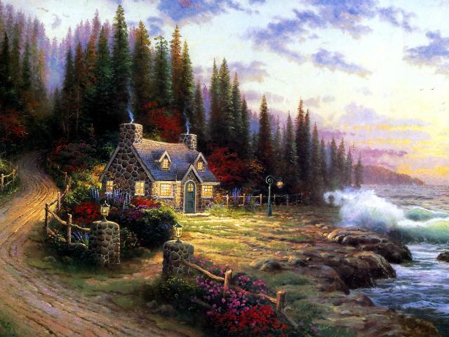 Сказочная реальность Томаса Кинкейда (Thomas Kinkade) 2c113a67b14b