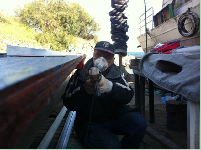 Катамаран для рыбалки на Кинерете  5f6450e00b4f