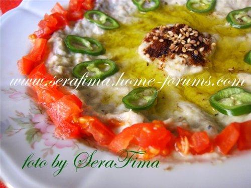 Мтаббаль. Дип из печеного баклажана. Арабская кухня 018d90686aa1