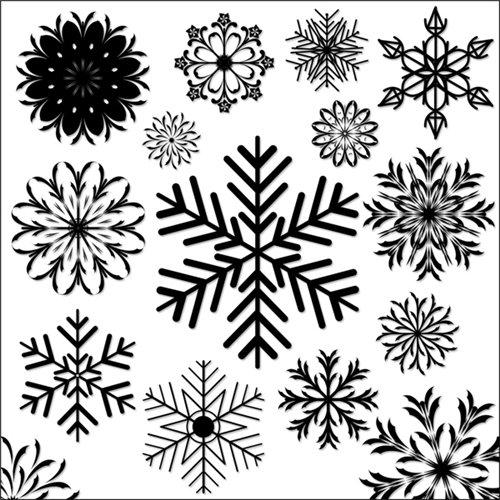 Снежинки-кисти фотошоп C106bc71a8bb