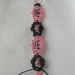 10 плетёных цепочек с бисером в технике макраме E1d0893a4214