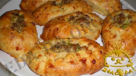Пирожки с куриной печенью,грибами и брокколи...... ммммммм  вкууууусно!!! 95b55b4057ed