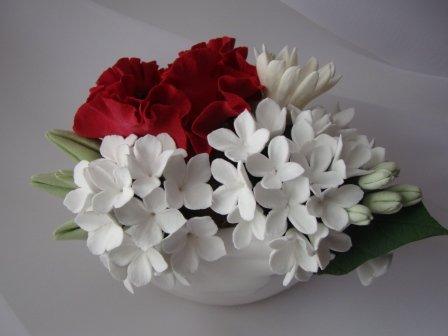 Цветы ручной работы из полимерной глины Dab1e4eb6d28