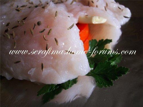 Сочное филе рыбы с помидорами, петрушкой и чесноком 0f75a46eae5c