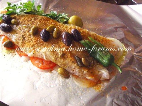Рыбное филе запеченое с оливками 2efc8f20fef2