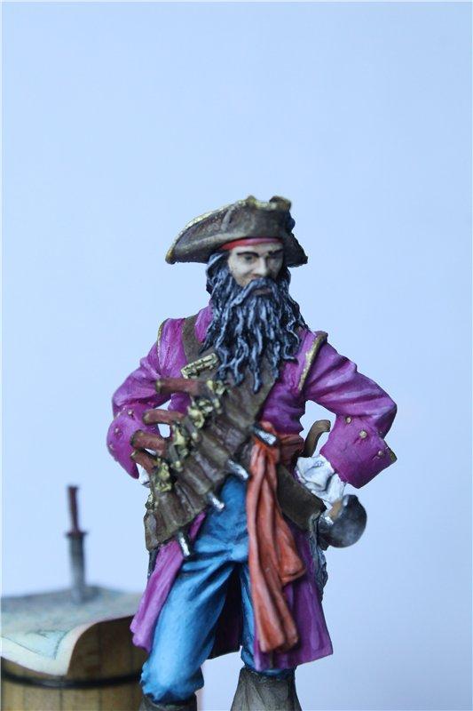 Пират Черная Борода пластик от ПРАПОРА 54мм 705cc52fc0ad