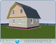 Проект часного дома с мансардой  C623e632542f