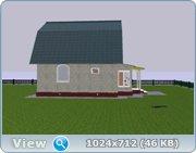 Проект часного дома с мансардой  4b9d93c4d7a1