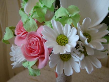 Цветы ручной работы из полимерной глины 973cd2b71a6e