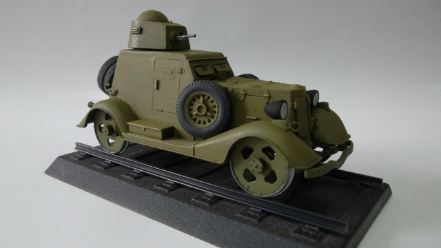 Бронеавтомобиль БА-20 Ж/Д, 1/35, (Старт). F0266418bcdb