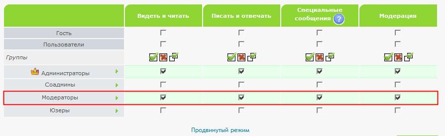 Форум для определенной группы (например, модераторов) 22e1672b1d3b