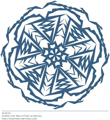 Зимнее рукоделие - вырезаем снежинки! A553be71231e
