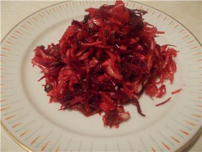 """Салат """"Корейские мотивы""""  с капустой, свеклой, грибами 2162ffbb9006"""