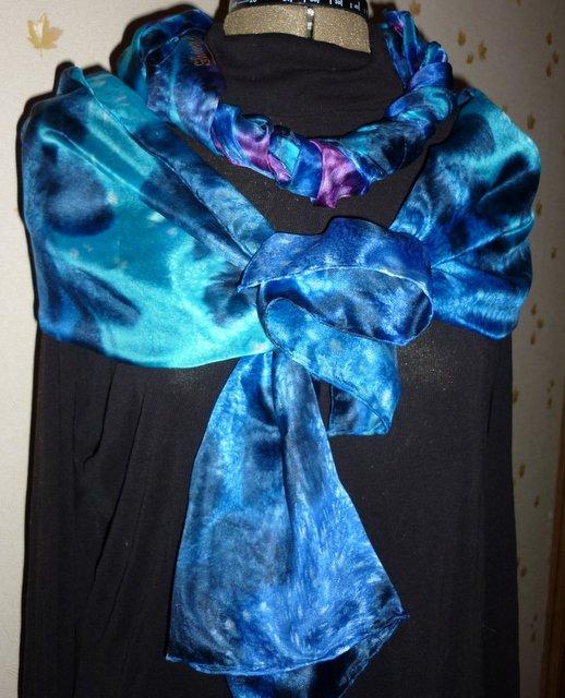 """Мастер-класс """"Как просто и быстро расписать шелковый шарф или платок"""" 6b9a8c2cd3ba"""