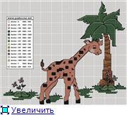 Жирафики - вышивка 5f955bdbceeft