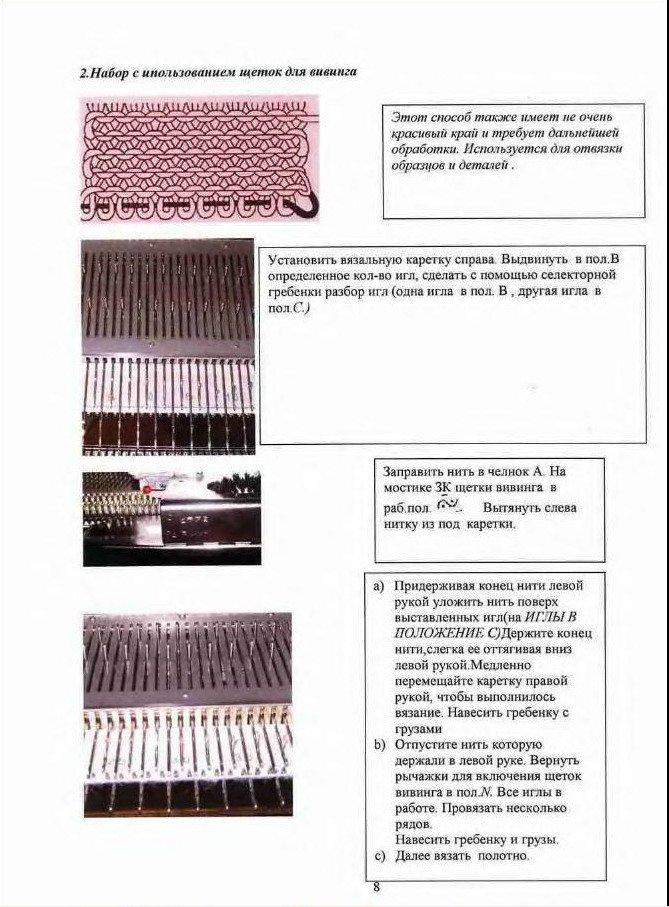 Начальный курс по обучению вязания на вязальной машине SILVER REED   75126d3b056b