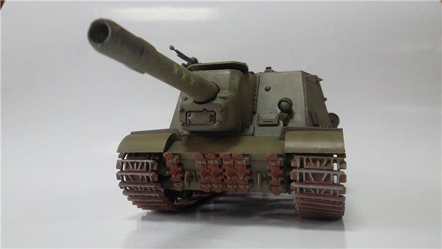 """ИСУ-152 """"Зверобой"""", 1/35, (Звезда 3532) перекраска старой модели. 4098c11a5914"""