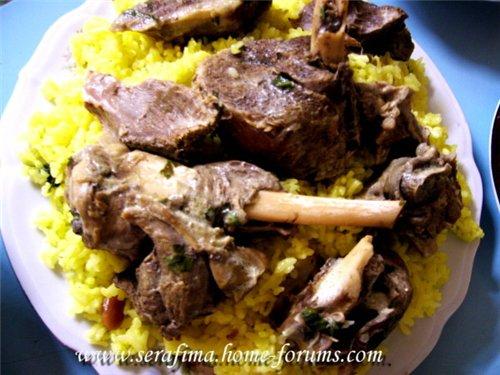 Мансеф - традиционный иорданский рис с бараниной и кефирной шорбой. Араб.кухня Dc64dc5d23e9