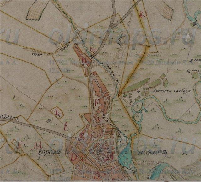 Козлов-Мичуринск на картах 91eb0be15b63