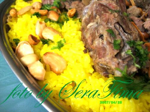 Мансеф - традиционный иорданский рис с бараниной и кефирной шорбой. Араб.кухня 49448ad4363b