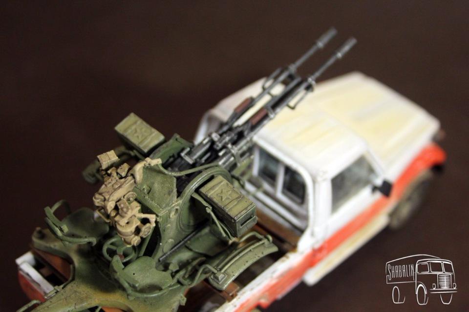 PickUP w/ZU-23-2 от Meng, масштаб 1/35 97a97917b291