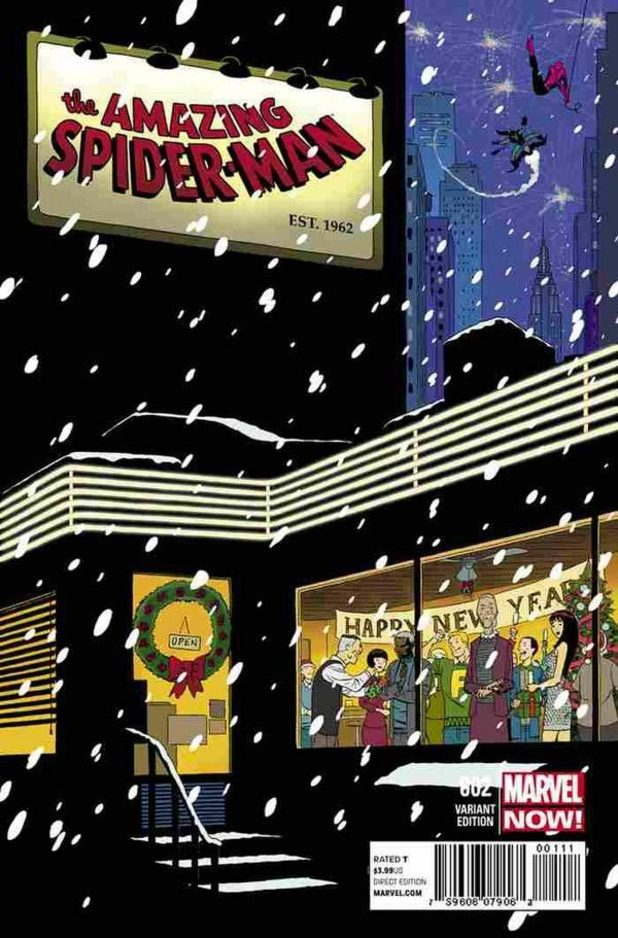 Portadas Navideñas Comics_the_amazing_spider_man_700_cover