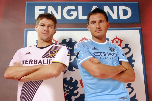 ¿Cuánto mide Frank Lampard? - Real height Englands-Steven-Gerrard-and-Frank-Lampard