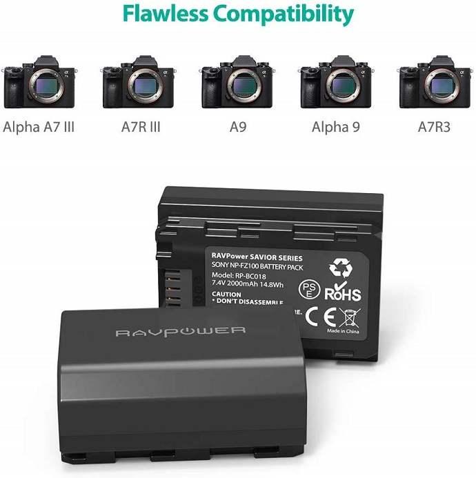 Pin dành cho máy ảnh sony Bo-pin-sac-Ravpower-NP-FZ100-cho-may-anh-Sony-2
