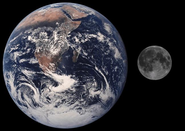 The Size And Distance Of The Sun/Moon   Earthmoon