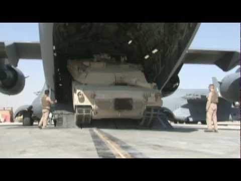 نقل دبابة ابرامز في طائرة C-17A Hqdefault