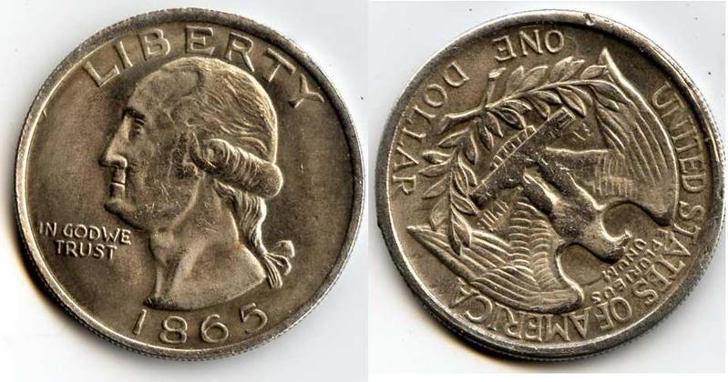 2 dolares de EEUU 1865 Coin1865
