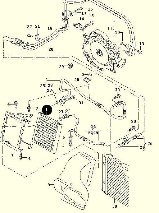 Audi A6 Oilcooler