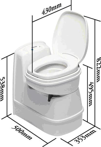Ettermontering av fast toalett Thetfordc200cs