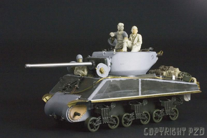 Sherman A3E2  Tamiya 1/35 et canon alu Rb models.  (Patine en cours) Jumbo-01