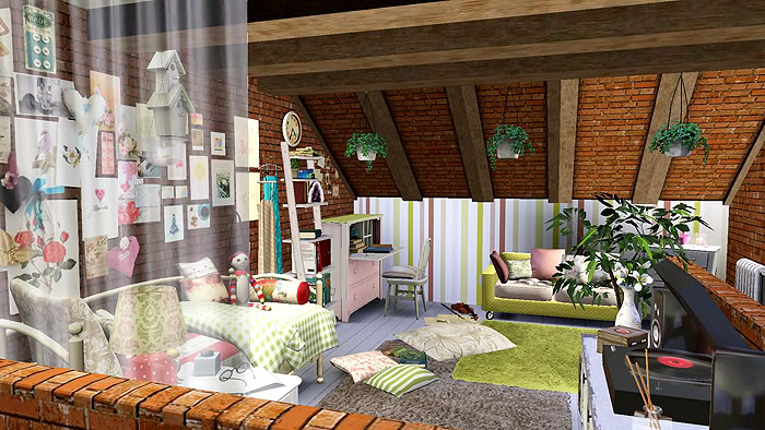 créer une pièce sous-toit UneSimpleChambre_final
